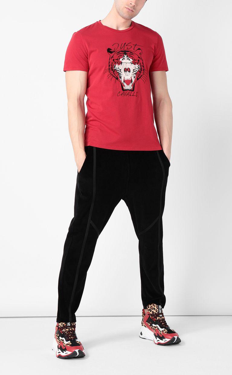 JUST CAVALLI Tiger over Skull t-shirt Short sleeve t-shirt Man d