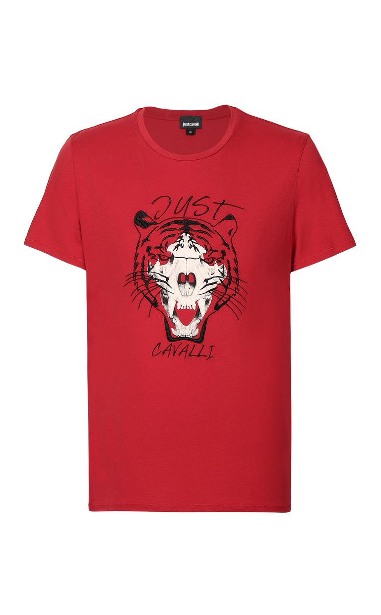 JUST CAVALLI Tiger over Skull t-shirt Short sleeve t-shirt Man f