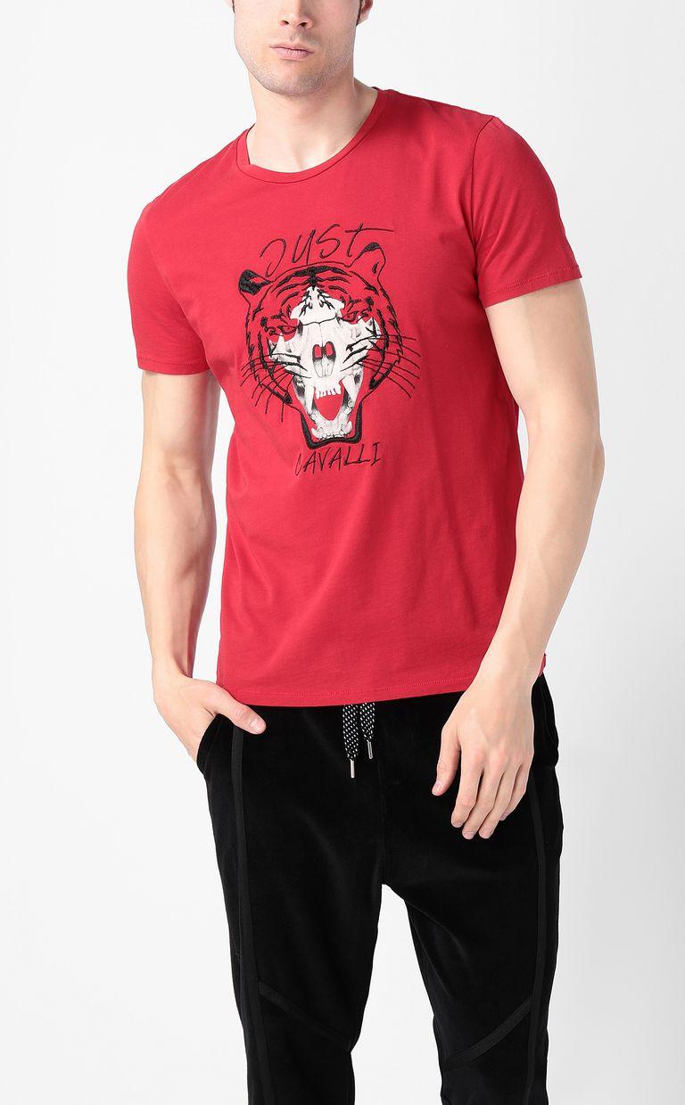 JUST CAVALLI Tiger over Skull t-shirt Short sleeve t-shirt Man r