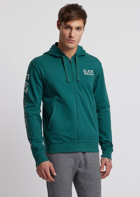 Train Logo sweatshirt with contrasting logo on the sleeves