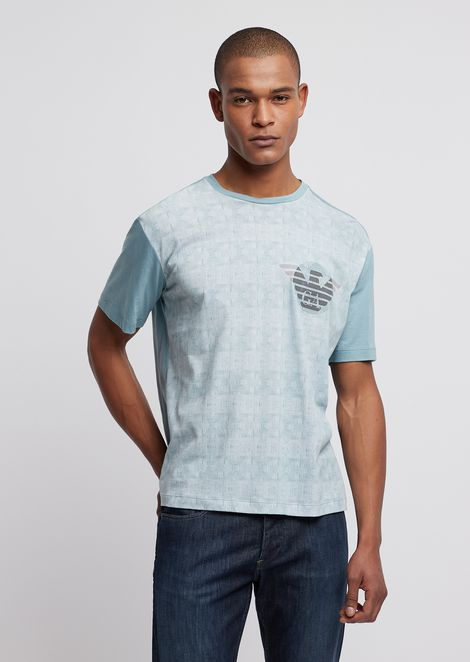 7f678e540fe T-shirt in jersey featuring patterned front with logo
