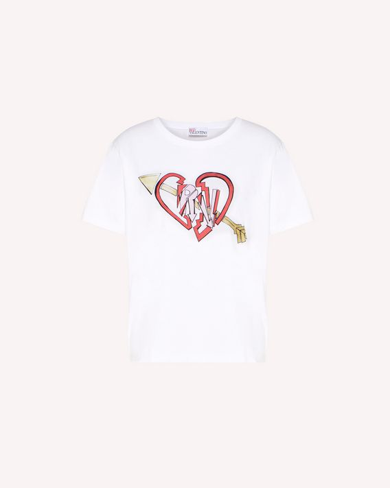 REDValentino T-shirt en édition limitée Love and Rock design
