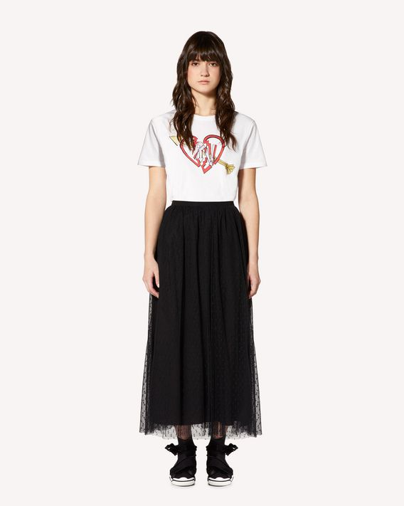 REDValentino  Exclusive limited-edition   Love and Rock Design T-shirt