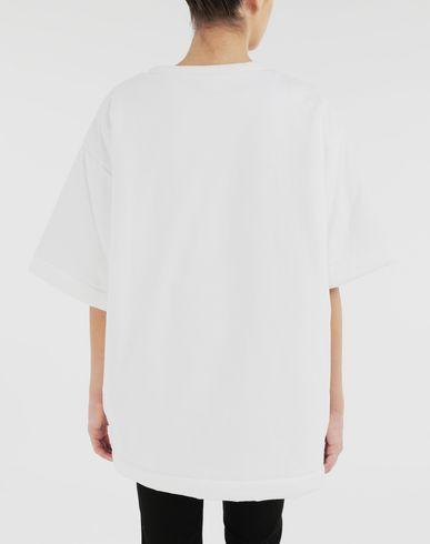 TOPS & TEES Logo reversible T-shirt White