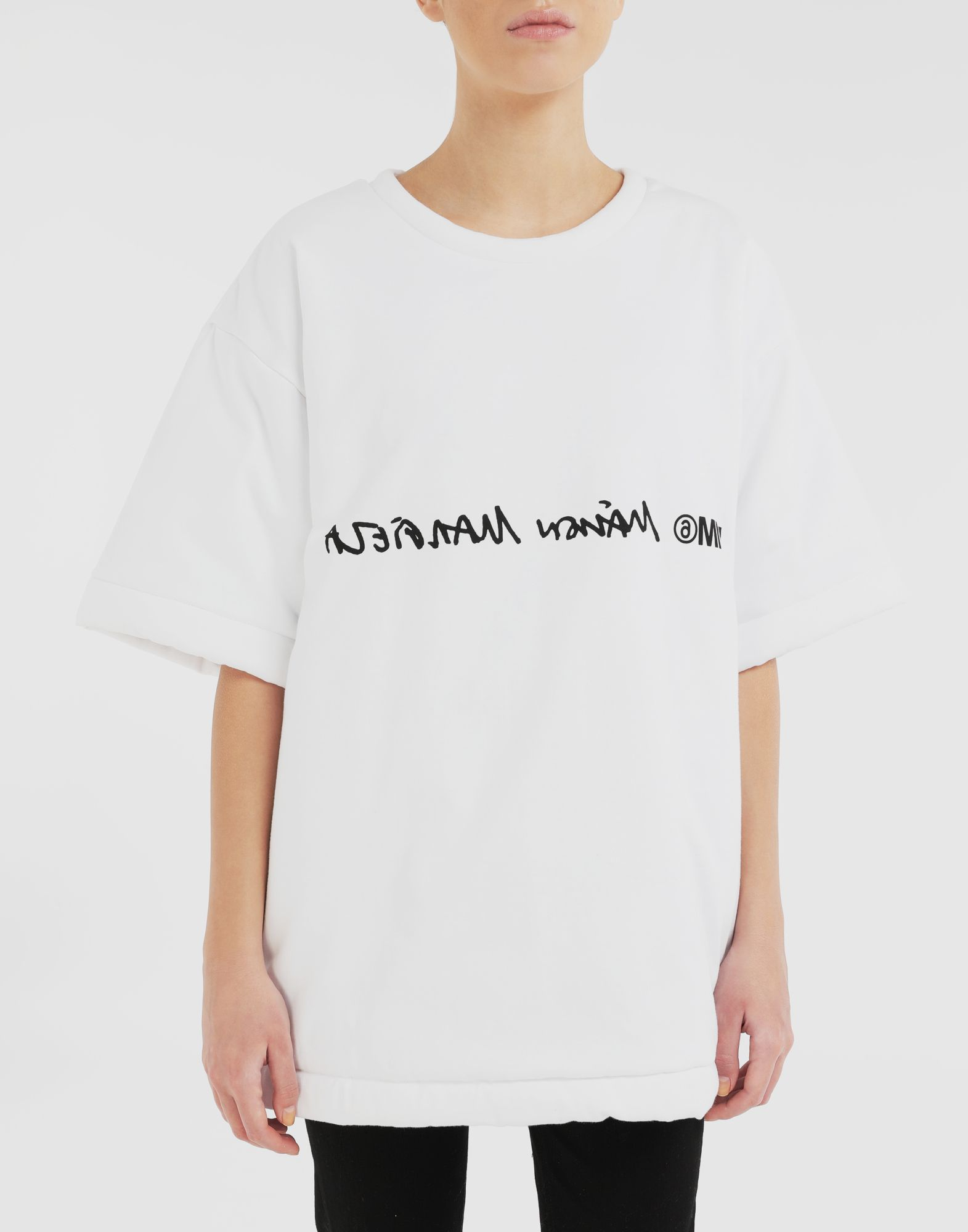 MM6 MAISON MARGIELA Logo reversible T-shirt Short sleeve t-shirt Woman a