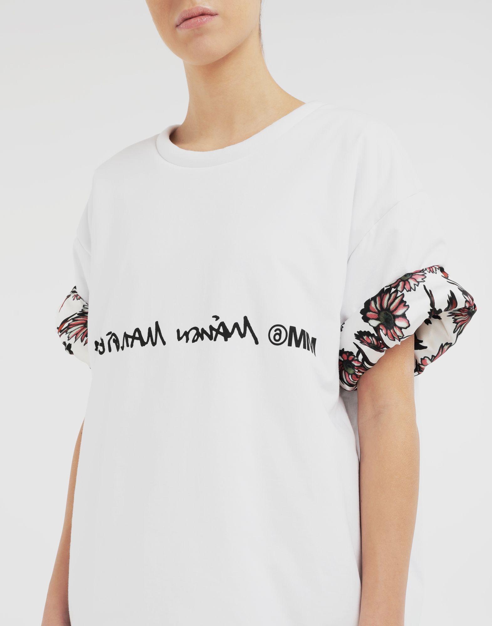 MM6 MAISON MARGIELA Двусторонняя футболка с логотипом Футболка с короткими рукавами Для Женщин b