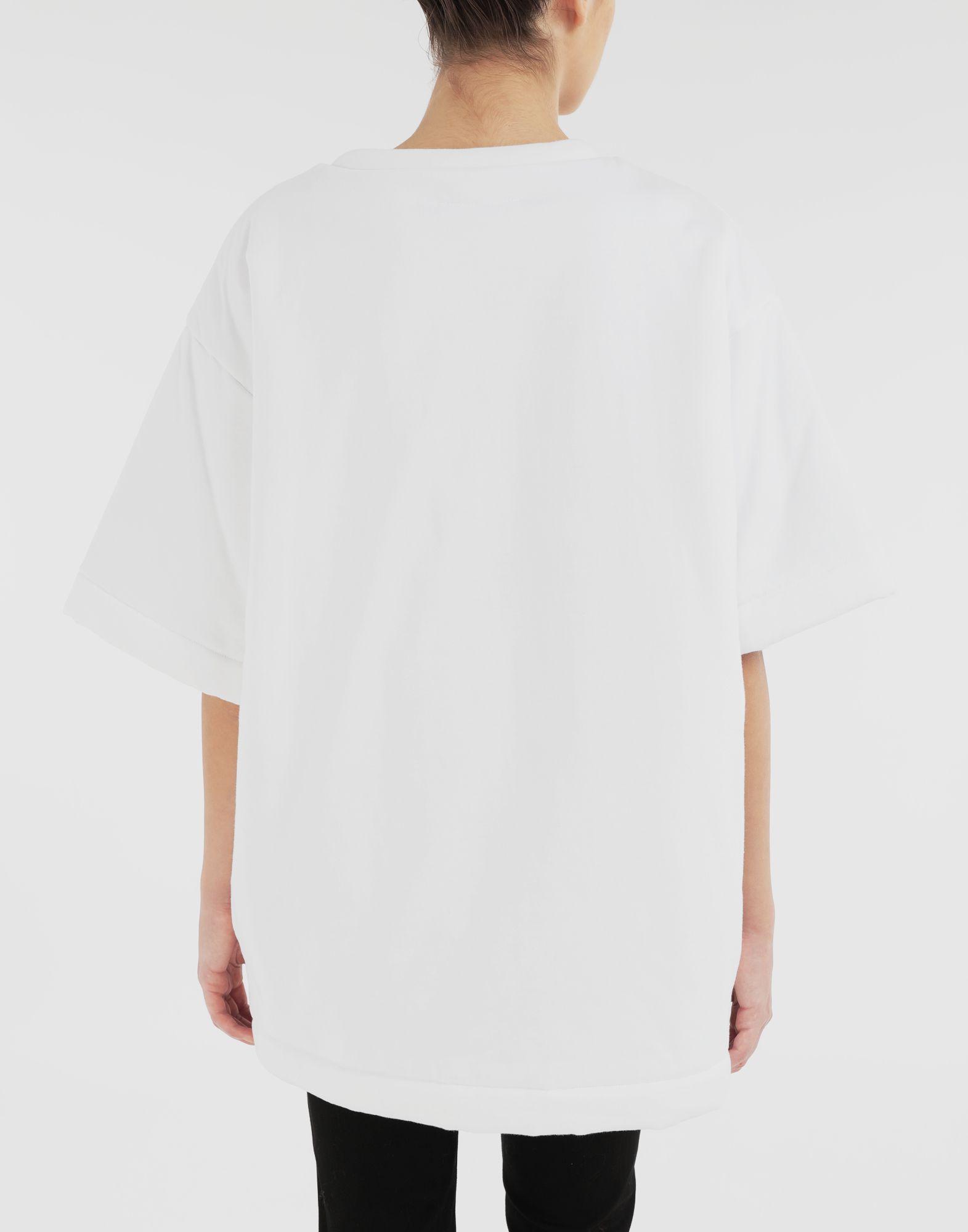 MM6 MAISON MARGIELA Wendbares Logo-T-Shirt Kurzärmliges T-Shirt Dame e