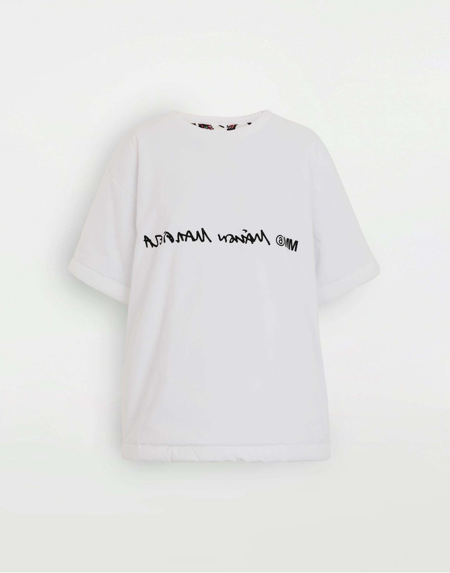 MM6 MAISON MARGIELA Camiseta con logotipo invertido Camiseta de manga corta Mujer f