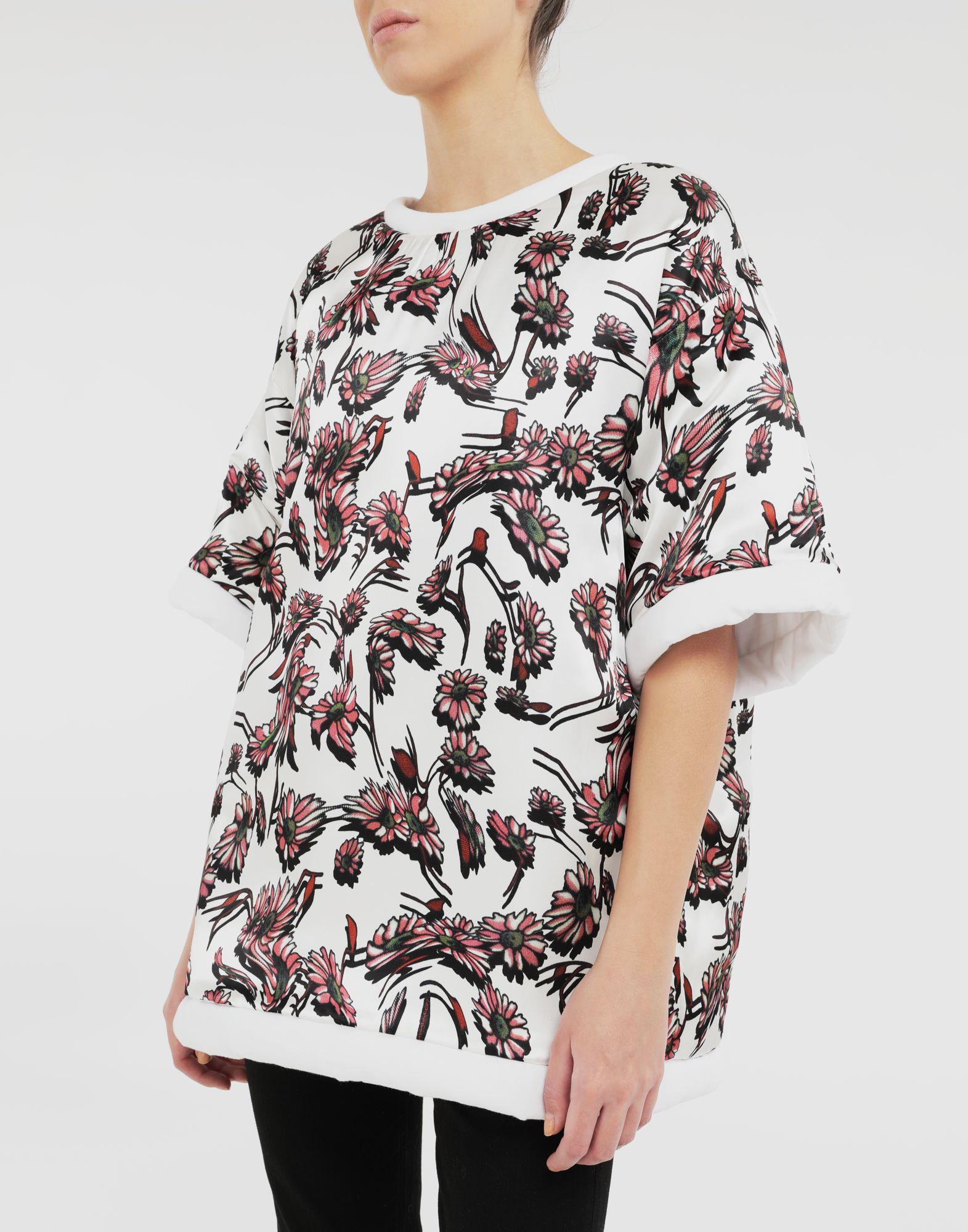 MM6 MAISON MARGIELA Wendbares Logo-T-Shirt Kurzärmliges T-Shirt Dame r