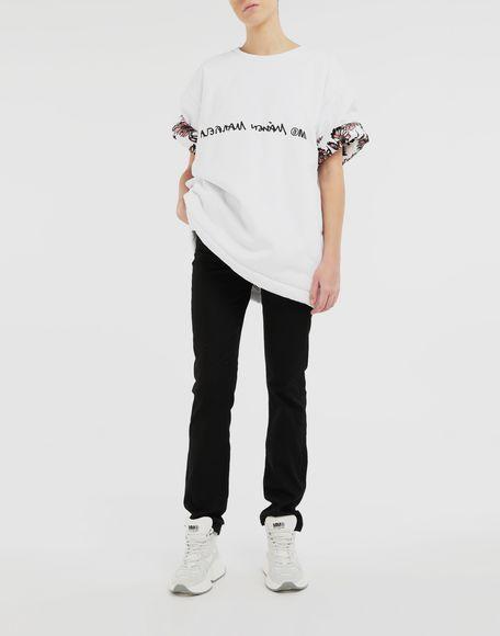 MM6 MAISON MARGIELA T-shirt reversibile con logo T-shirt maniche corte Donna d