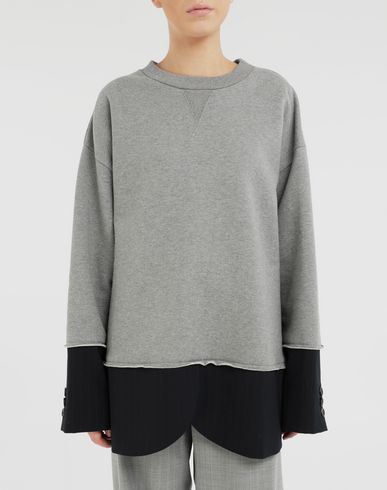 KNITWEAR Spliced sweatshirt Grey