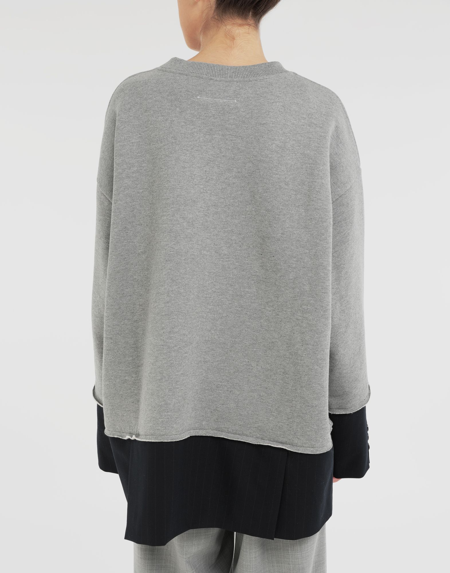 MM6 MAISON MARGIELA Spliced sweatshirt Sweatshirt Woman e
