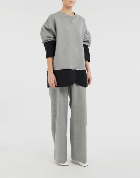 MM6 MAISON MARGIELA Spliced sweatshirt Sweatshirt Woman d
