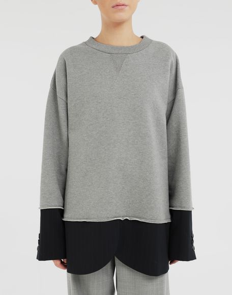 MM6 MAISON MARGIELA Spliced sweatshirt Sweatshirt Woman r