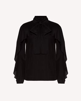 REDValentino Flounced silk top