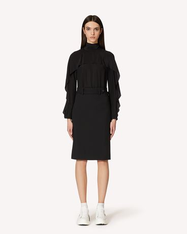 REDValentino SR3ABB2023H 0NO Рубашка Для Женщин f