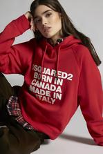 DSQUARED2 Born In Canada Made In Italy Hooded Sweatshirt Sweatshirt Woman