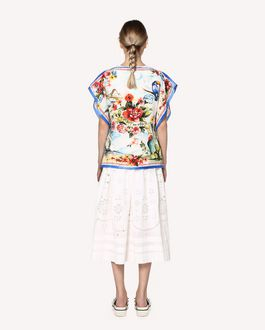 REDValentino Siesta Dream printed silk top