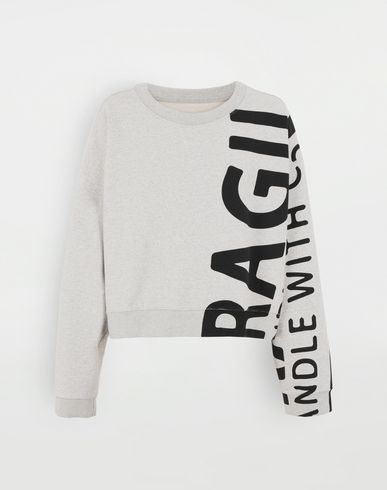 KNITWEAR 'Fragile' sweatshirt Grey
