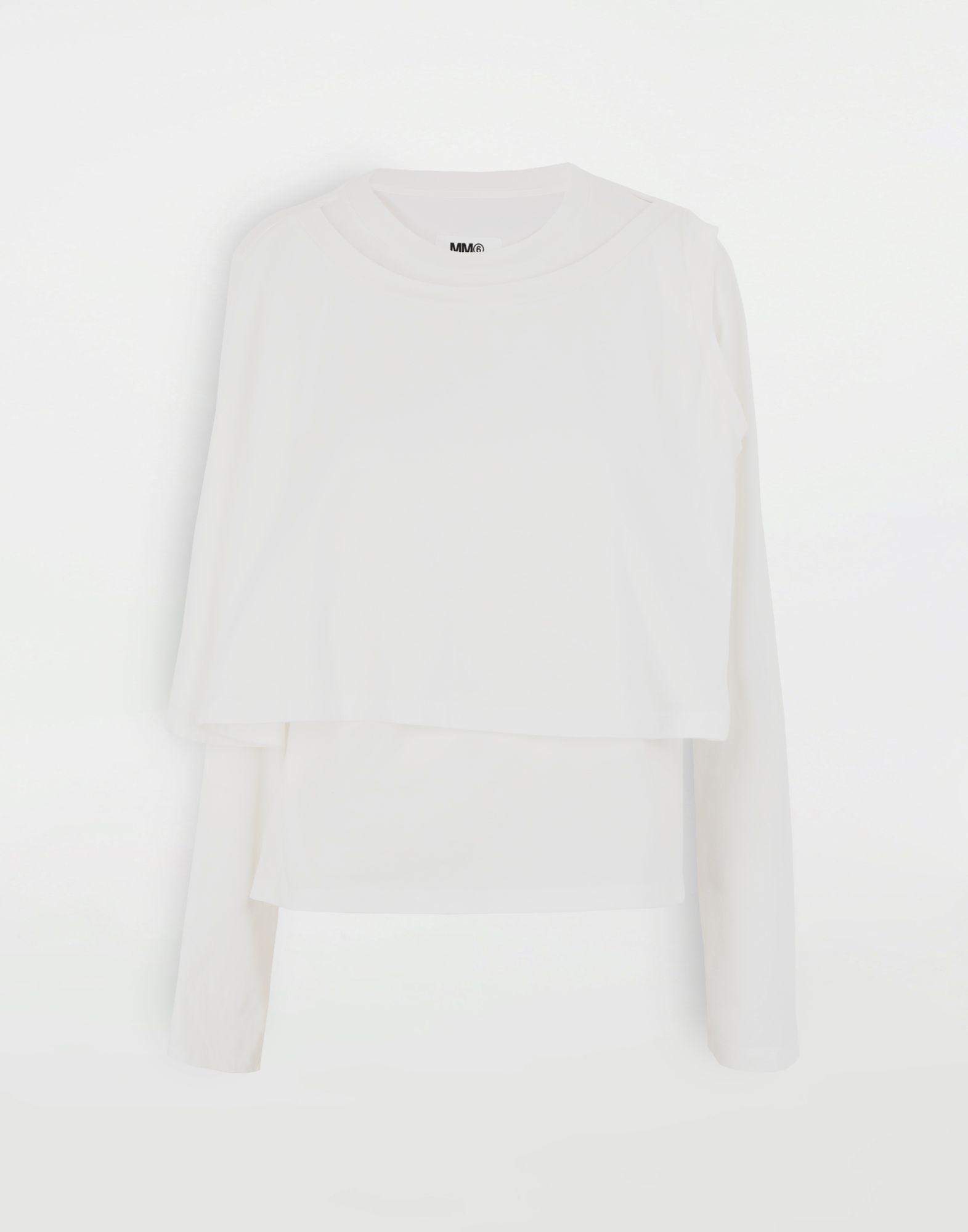 MM6 MAISON MARGIELA Double layer top Long sleeve t-shirt Woman f