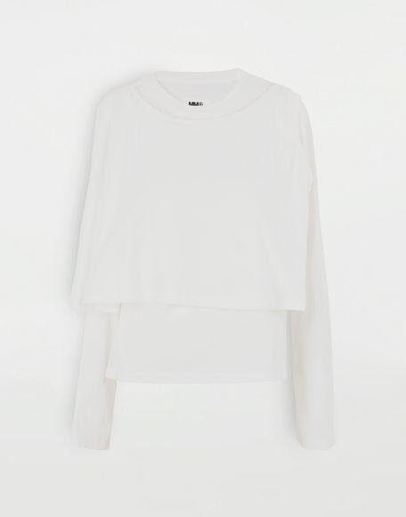 MM6 MAISON MARGIELA Haut double T-shirt manches longues Femme f