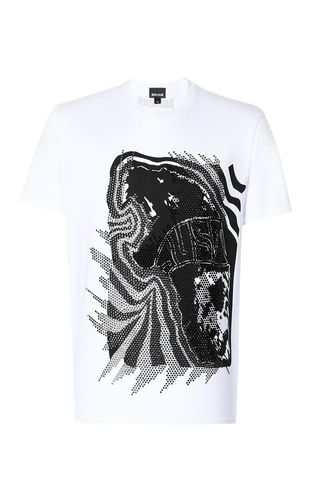 JUST CAVALLI Short sleeve t-shirt Man T-shirt with skull f