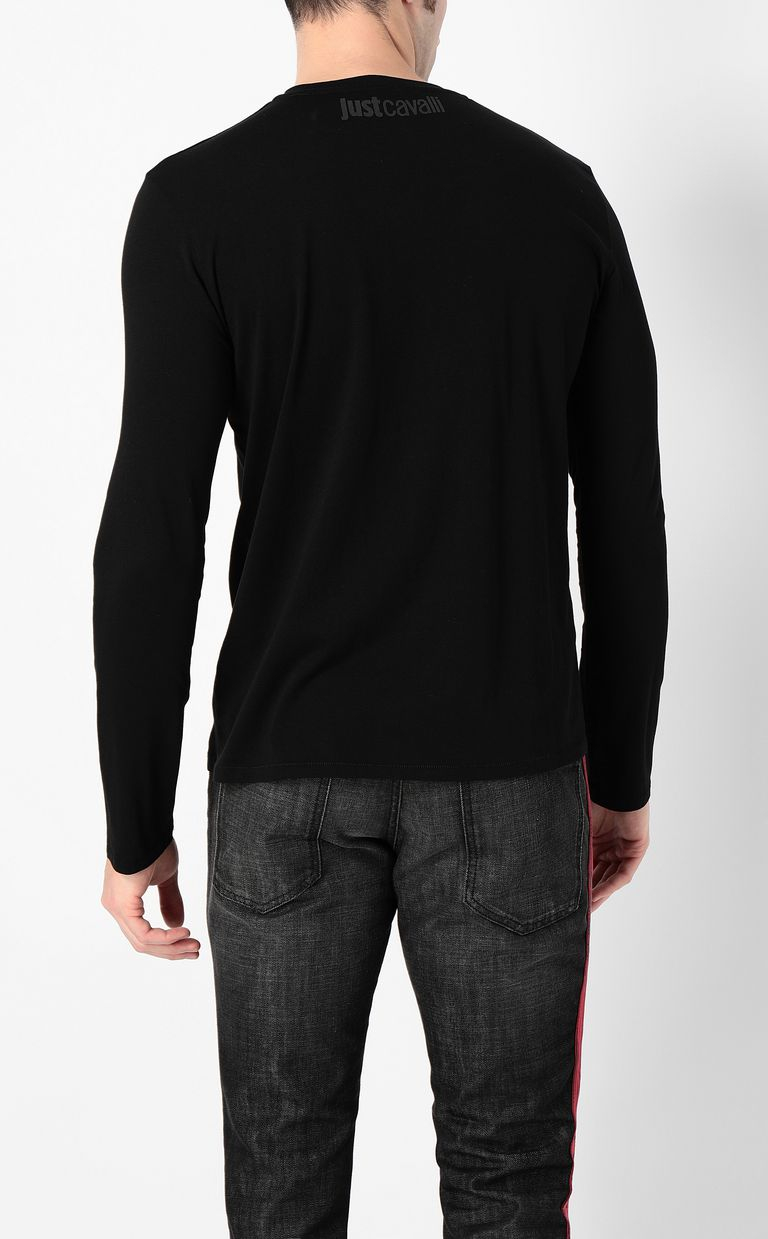 JUST CAVALLI Long-sleeve t-shirt with Just logo Long sleeve t-shirt Man a