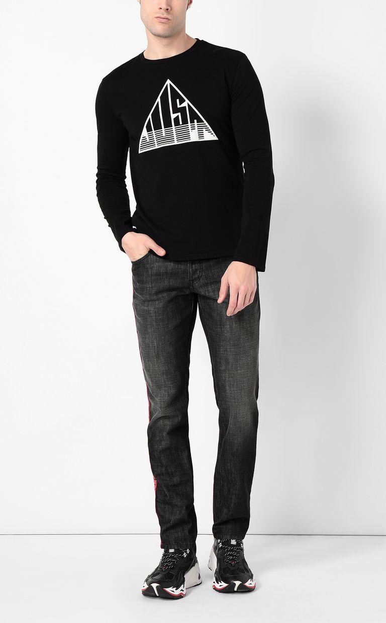 JUST CAVALLI Long-sleeve t-shirt with Just logo Long sleeve t-shirt Man d