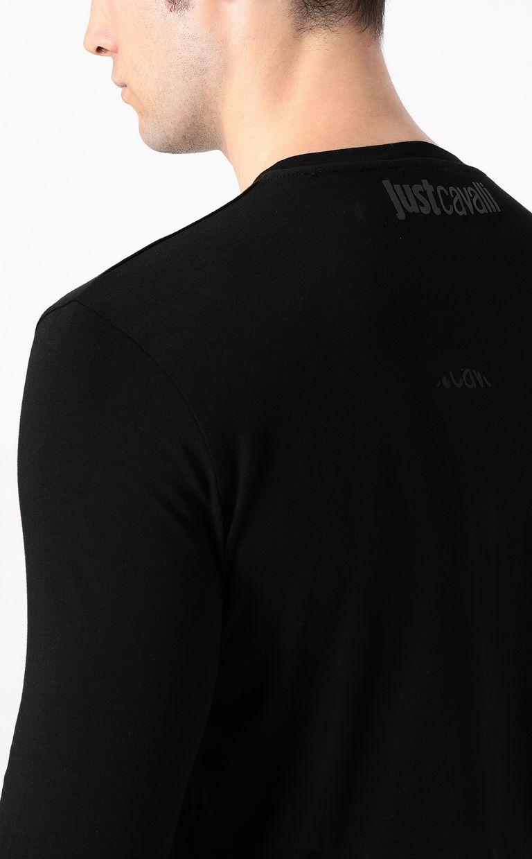 JUST CAVALLI Long-sleeve t-shirt with Just logo Long sleeve t-shirt Man e