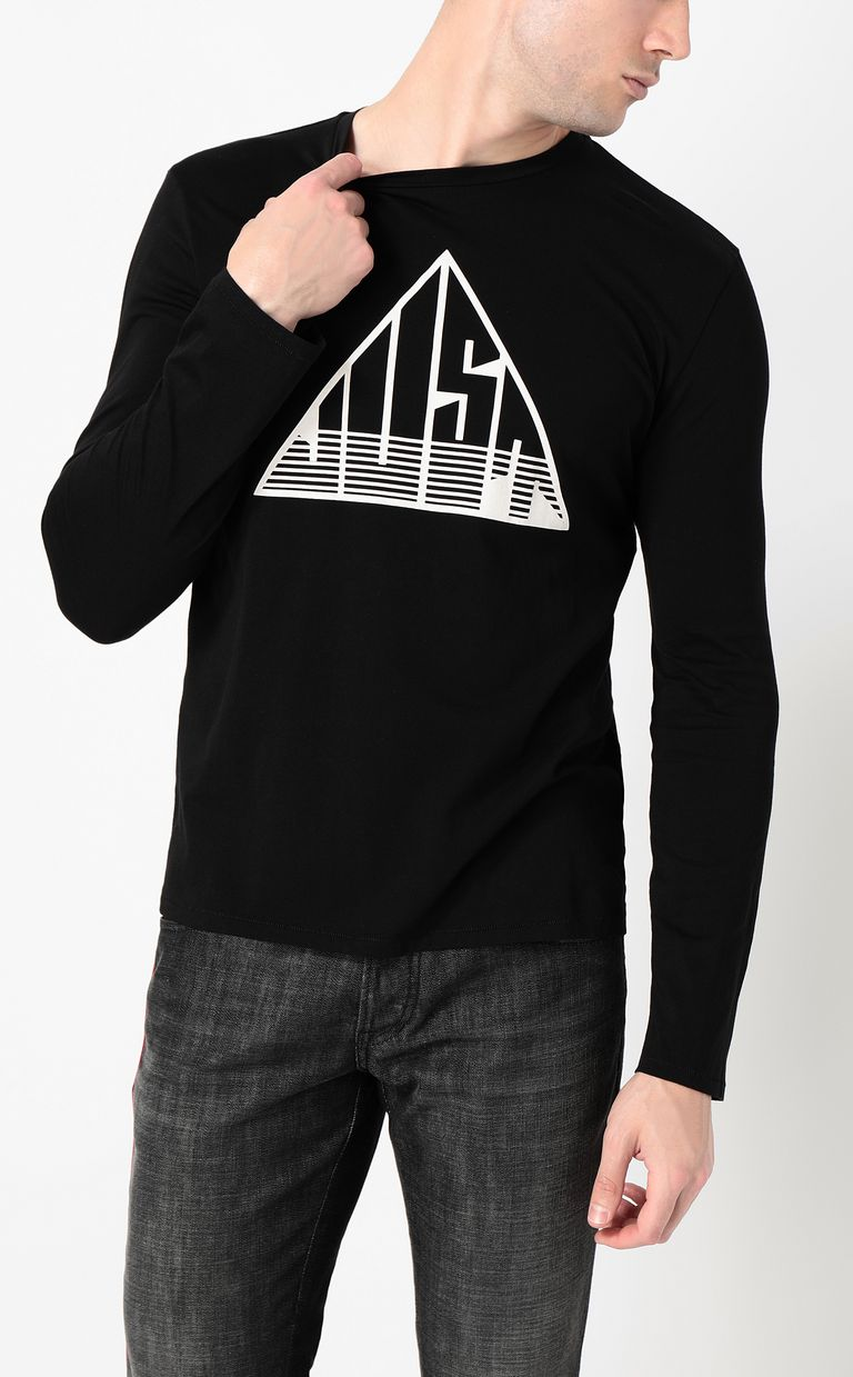 JUST CAVALLI Long-sleeve t-shirt with Just logo Long sleeve t-shirt Man r