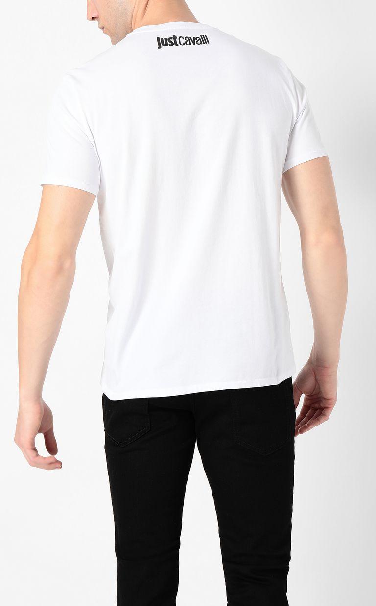 JUST CAVALLI T-shirt with Just logo Short sleeve t-shirt Man a