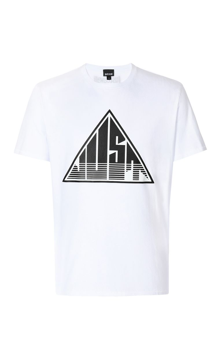 JUST CAVALLI T-shirt with Just logo Short sleeve t-shirt Man f