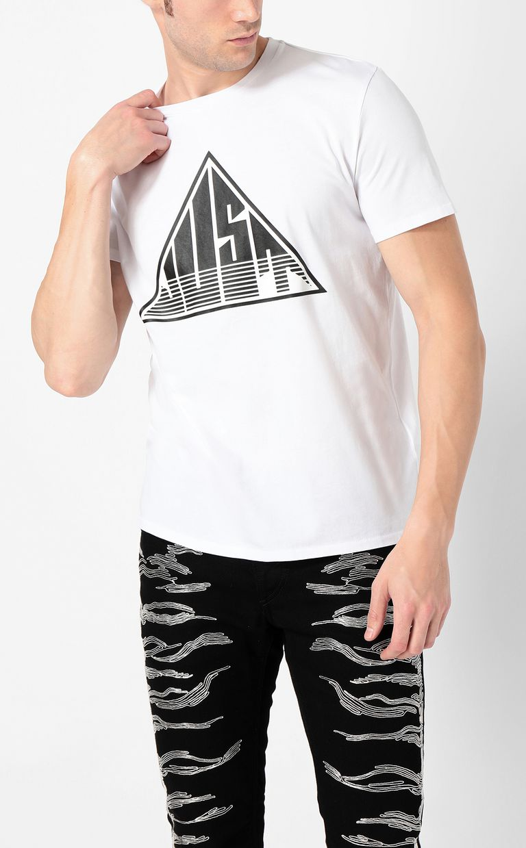 JUST CAVALLI T-shirt with Just logo Short sleeve t-shirt Man r