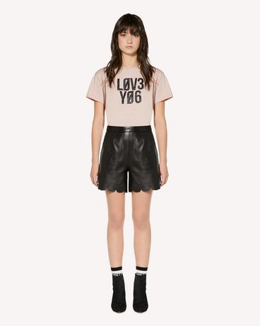 "REDValentino ""Love You"" glitter print T-shirt"