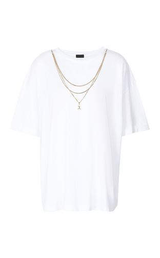 JUST CAVALLI Short sleeve t-shirt Woman T-shirt with chain f
