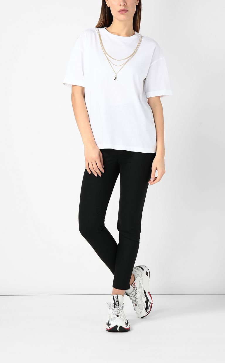 JUST CAVALLI T-shirt with chain Short sleeve t-shirt Woman d