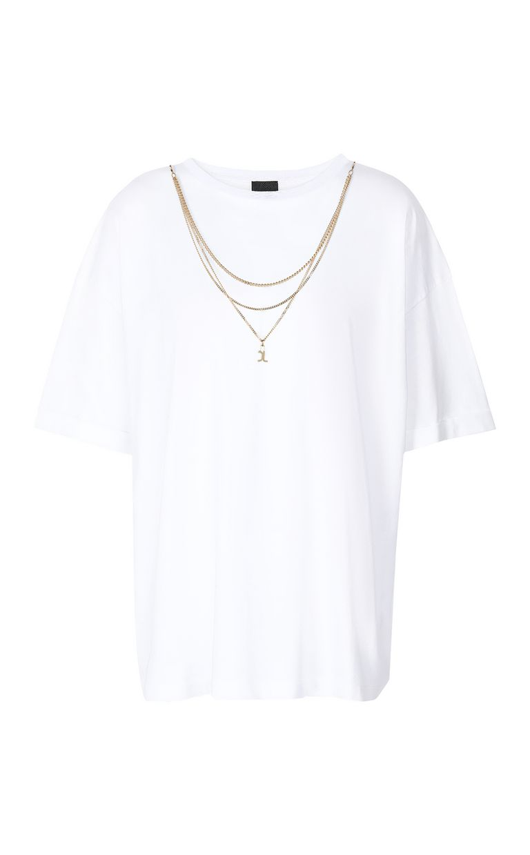 JUST CAVALLI T-shirt with chain Short sleeve t-shirt Woman f