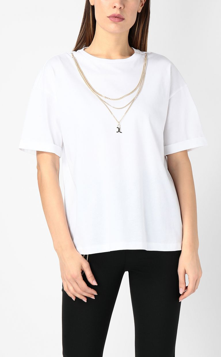 JUST CAVALLI T-shirt with chain Short sleeve t-shirt Woman r