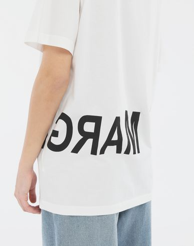 TOPS Reversed logo T-shirt Ivory