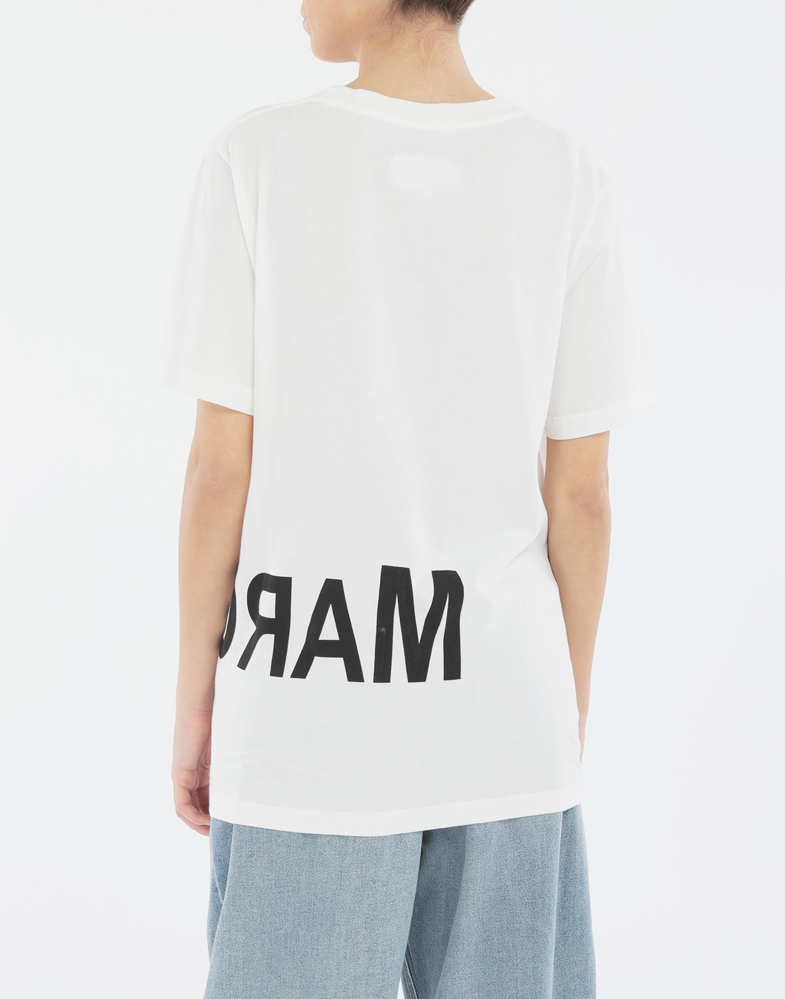 MM6 MAISON MARGIELA Reversed logo T-shirt Short sleeve t-shirt Woman e