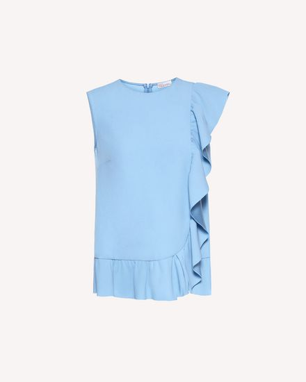 Limited Edition   Ruffle detail crepe envers satin top