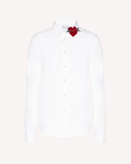 Cotton Poplin shirt with heart patch detail