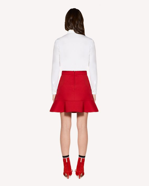 REDValentino Cotton Poplin shirt with heart patch detail