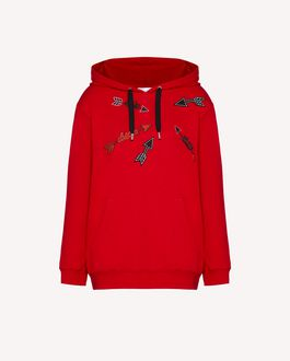 REDValentino Sweatshirt with Heart and Arrow embroidery