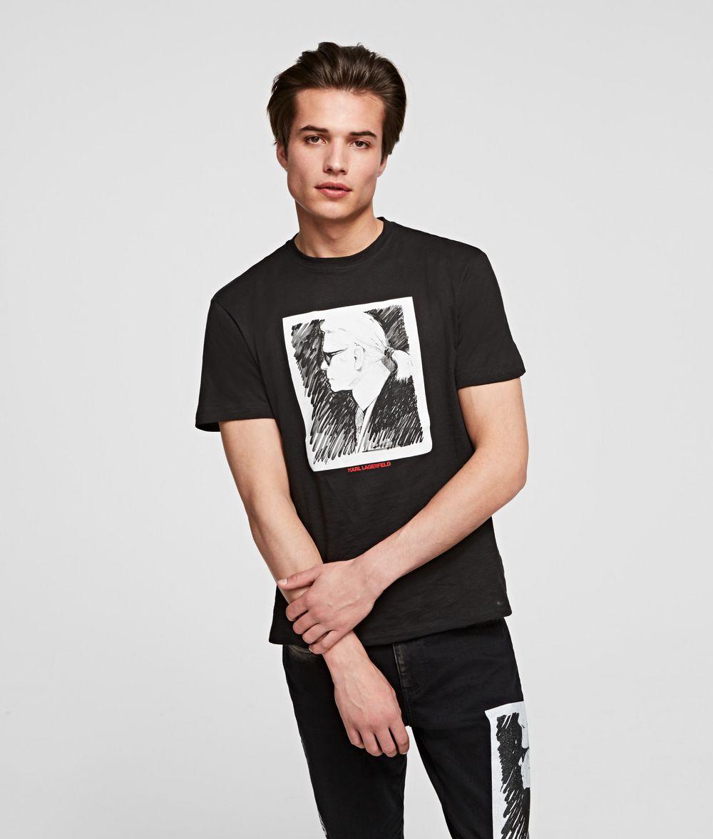 KARL LAGERFELD KARL LEGEND PROFILE T-SHIRT T-shirt Man f