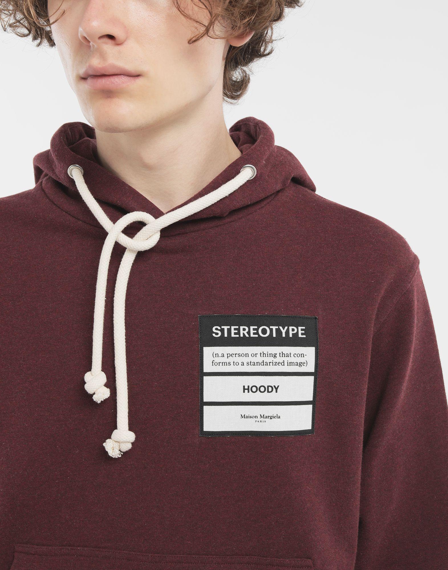 MAISON MARGIELA Stereotype hoodie Hooded sweatshirt Man a