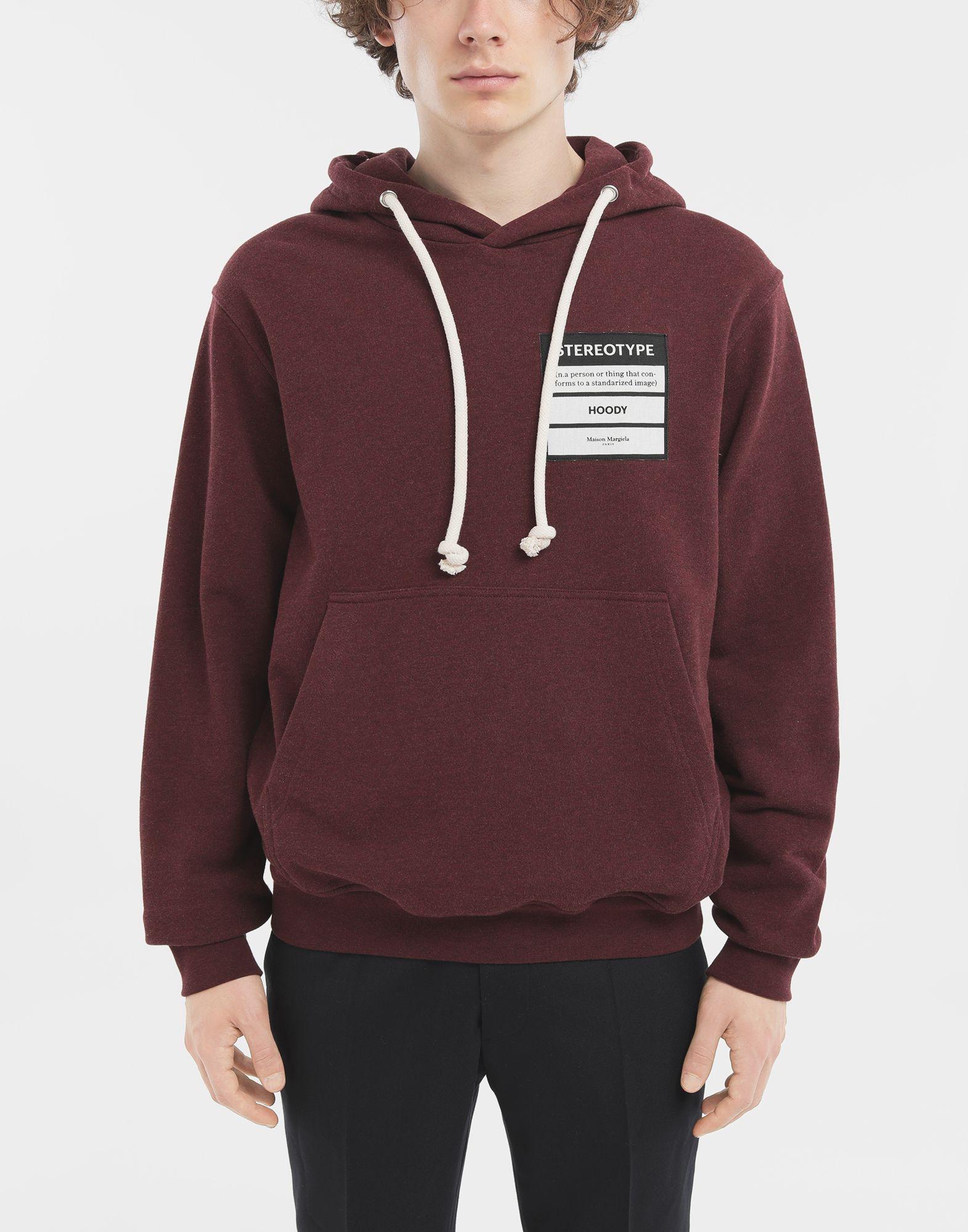 MAISON MARGIELA Stereotype hoodie Hooded sweatshirt Man r