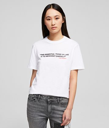 KARL LAGERFELD KARL LEGEND QUOTE T-SHIRT