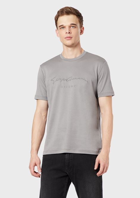 T-shirt in cotton jersey with logo print