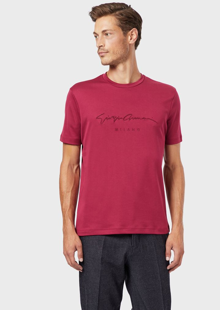 0dca747220 T-shirt in cotton jersey with logo print